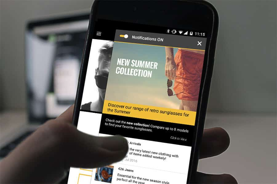 Image result for Bring customers back into your app with push notifications