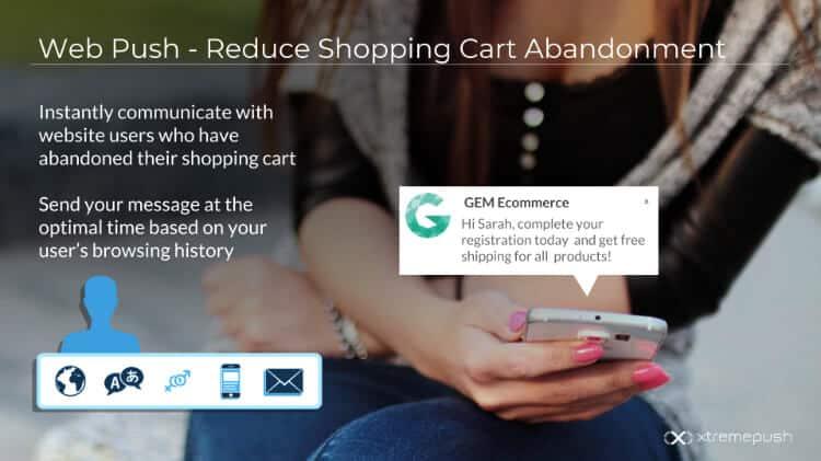 Mobile web push ecommerce