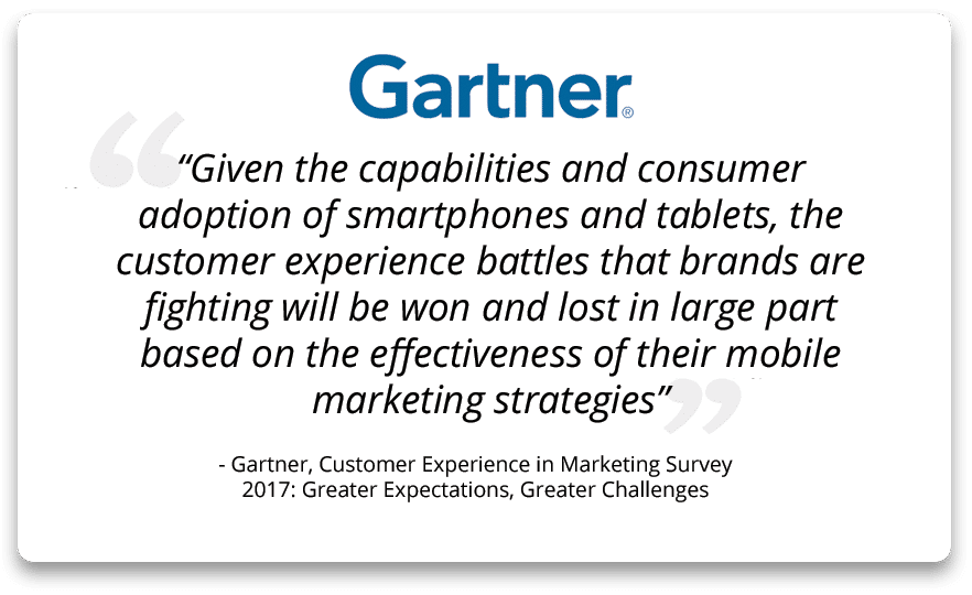 Gartner's view on the importance of mobile-first marketing strategies