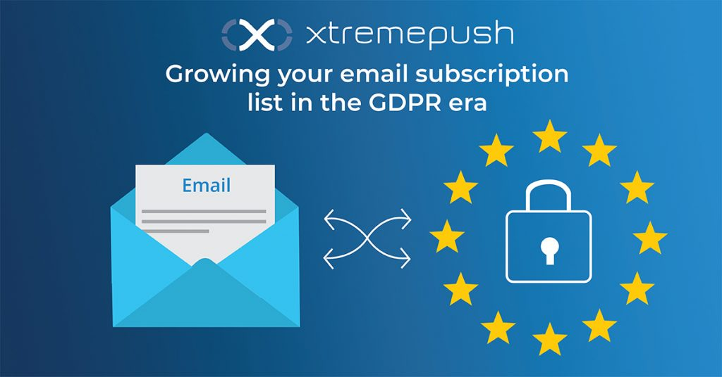 growing email lists under GDPR