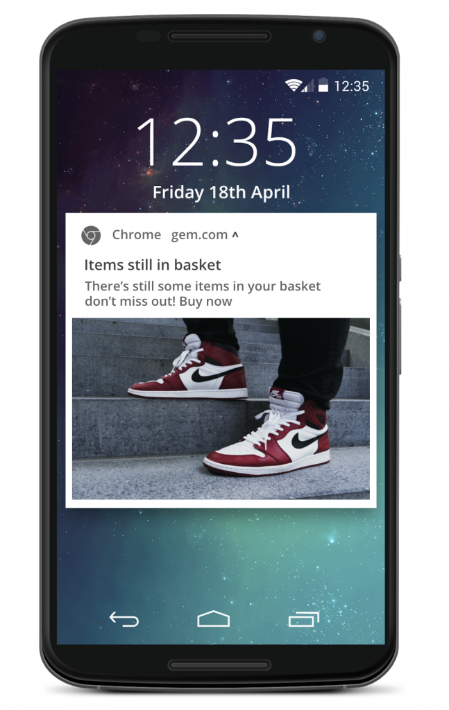 website notifications can be sent to mobile devices