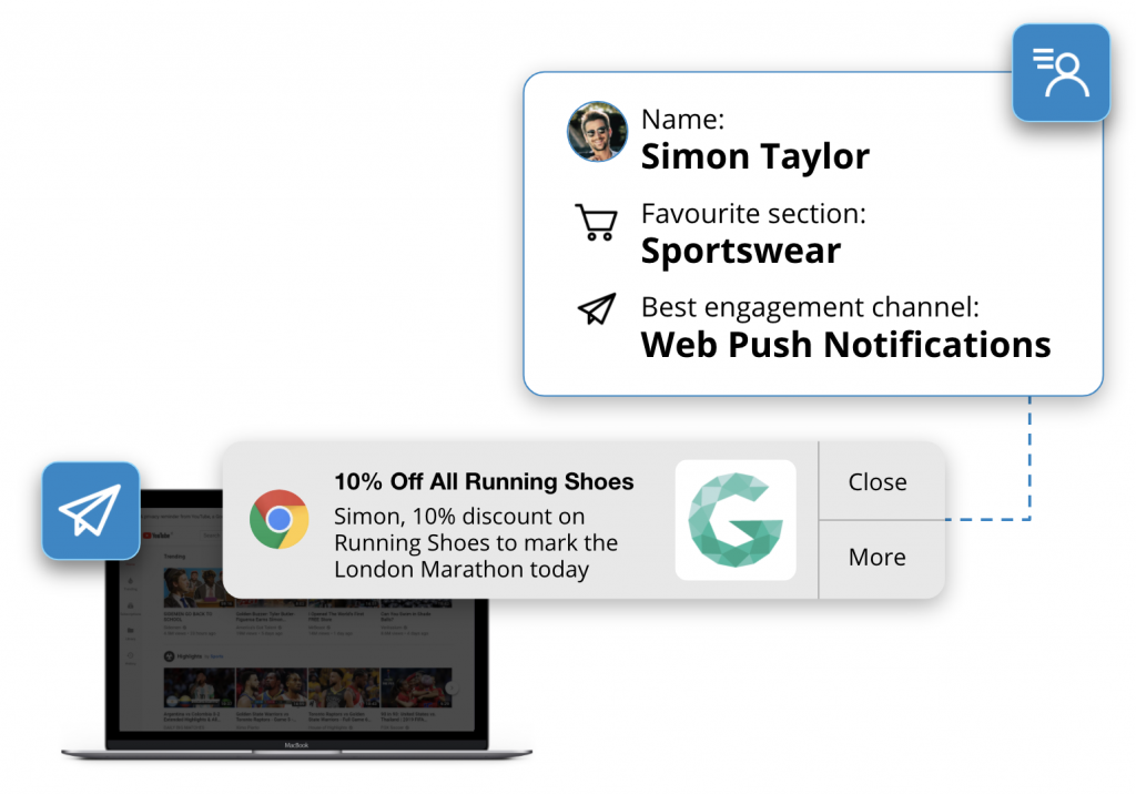 website notifications for eCommerce