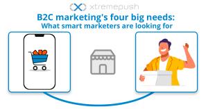 B2C marketing's four big needs