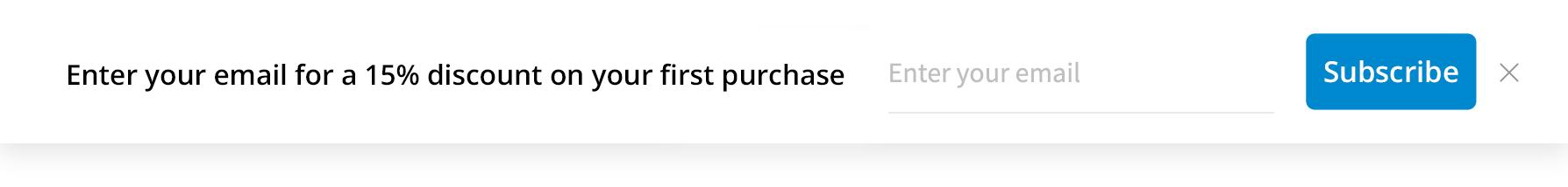 Using an info bar as an on-site message