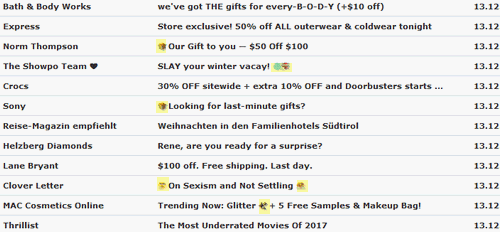 use of emojis in email subject lines